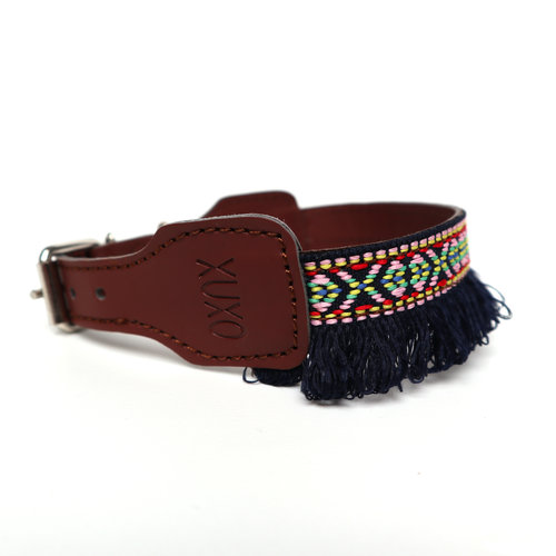 XUXO Collar blue with fringes