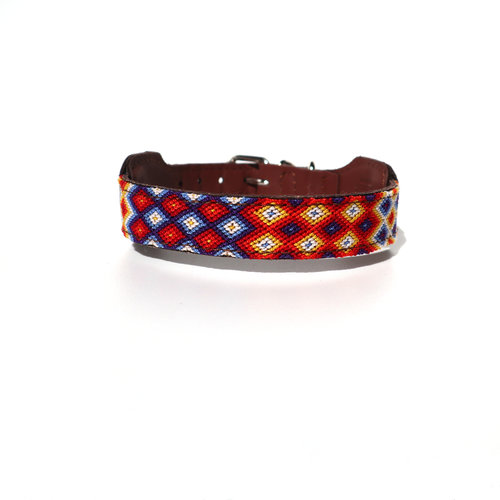 XUXO Collar Orange & Blue - S