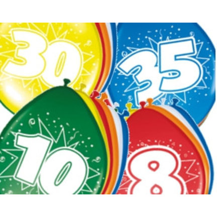 Ballonnen met leeftijden