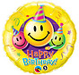 Heliumballon Happy Birthday Smileys