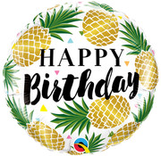 Qualatex Heliumballon Happy Birthday Ananas