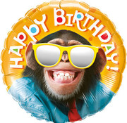 Qualatex Heliumballon Happy Birthday Chimp