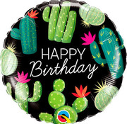 Qualatex Heliumballon Happy Birthday Cactussen