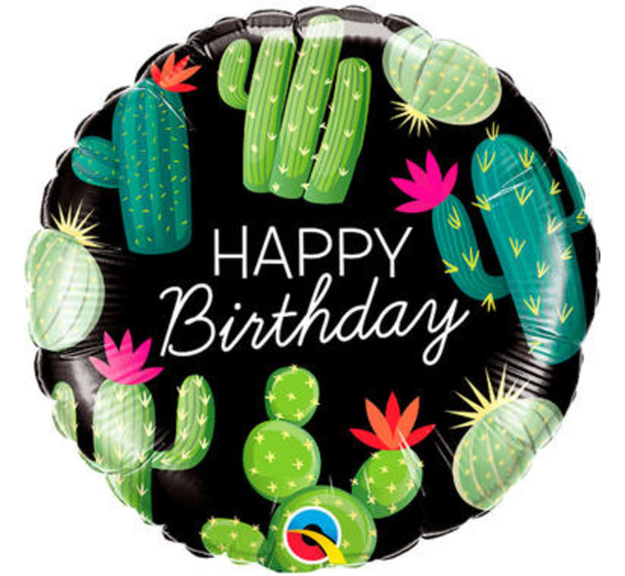 Heliumballon Happy Birthday Cactussen