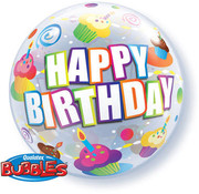 Qualatex Heliumballon Bubbles Birthday Cupcakes