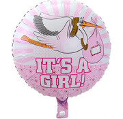Folat Heliumballon It's a Girl Ooievaar