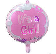 Qualatex Heliumballon It's a Girl Clouds