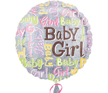 Qualatex Heliumballon Baby Girl Glitter