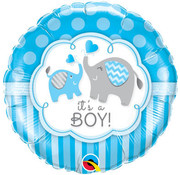 Qualatex Heliumballon It's a Boy Olifanten