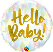 Qualatex Heliumballon Hello Baby