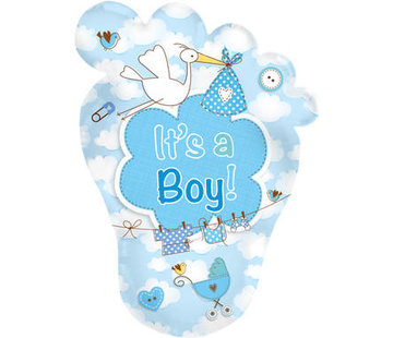 Qualatex Heliumballon XL It's a Boy Babyvoetje