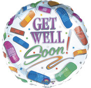 Qualatex Heliumballon Get Well Pleisters