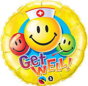 Qualatex Heliumballon Get Well Emoticons