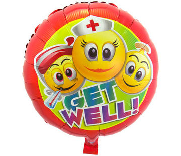 Folatex Ballonnen Heliumballon Get Well Smileys