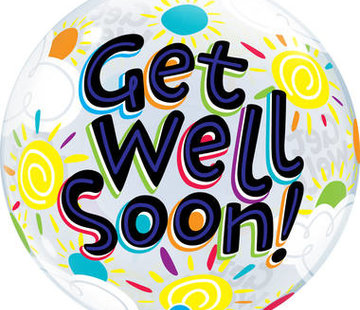 Qualatex Heliumballon Bubbles Get Well Soon