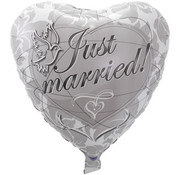 Folatex Ballonnen Heliumballon Just Married Duiven