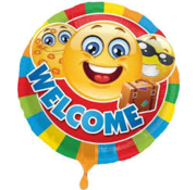 Folat Heliumballon  Emoticon Welcome
