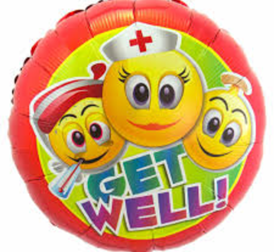 Heliumballon  Emoticon Get Well Soon