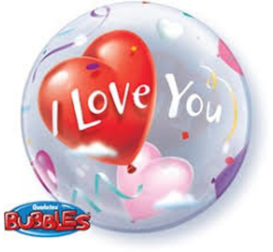 Heliumballon Bubbles I Love You Hartjes
