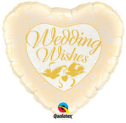 Qualatex Heliumballon Hartvorm Wedding Wishes