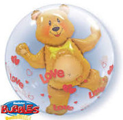 Qualatex Heliumballon Dubble Bubbles Beer met LOVE 3D