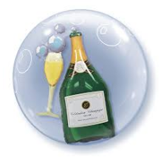 Qualatex Heliumballon Dubble Bubbles Champagne