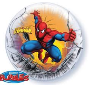Qualatex Heliumballon Bubbles Spiderman