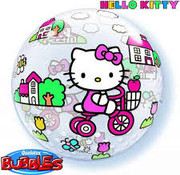 Qualatex Heliumballon Bubbles Hello Kitty