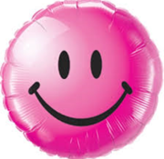 Qualatex Heliumballon Emoticon Smile Roze