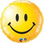Qualatex Heliumballon Emoticon Smile Geel