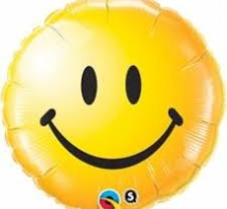 Heliumballon Emoticon Smile Geel