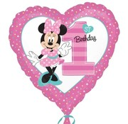 Qualatex Heliumballon 1st Birthday Minnie Mouse
