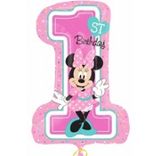 Qualatex Heliumballon XL Minni Mouse 1st Birthday