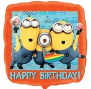 Qualatex Heliumballon Happy Birthday Minions
