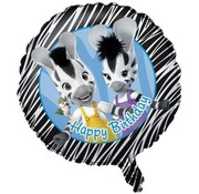 Qualatex Heliumballon Happy Birthday Zou - Zebra