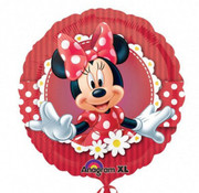 Anagram Heliumballon Minni Mouse rood wit