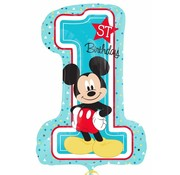 Qualatex Heliumballon XL Mickey Mouse 1st Birthday