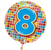Qualatex Heliumballon Birthday Blocks 8 jaar