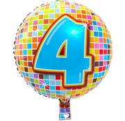 Qualatex Heliumballon Birthday Blocks 4 jaar