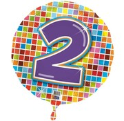 Qualatex Heliumballon Birthday Blocks 2 jaar