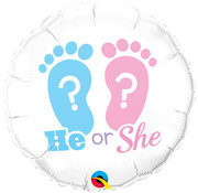 Qualatex Heliumballon He or She Gender Reveal