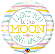 Qualatex Heliumballon I Love you to the Moon and Back