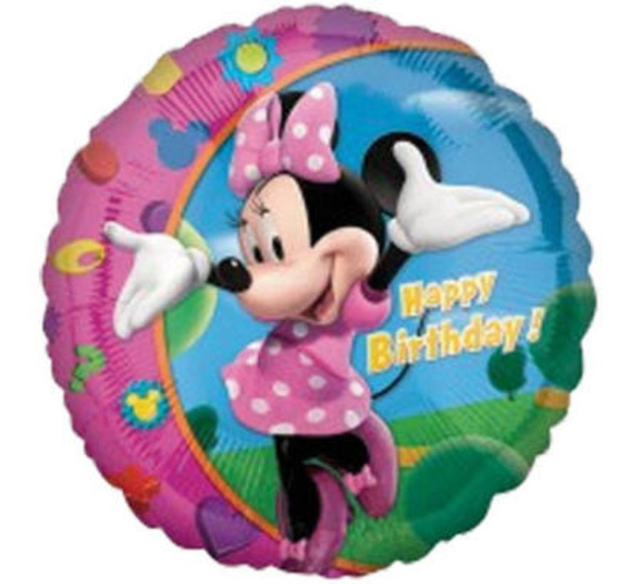 Heliumballon Happy Birthday Minnie Mouse