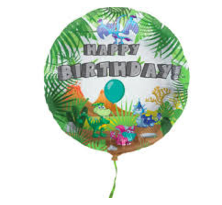 Heliumballon Happy Birthday Dinosaurus