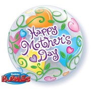Qualatex Heliumballon Bubbles Happy Mother's Day