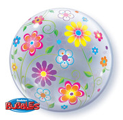 Qualatex Heliumballon Bubbles Bloemen
