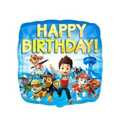 Anagram Heliumballon Happy Birthday Paw Patrol Vierkant