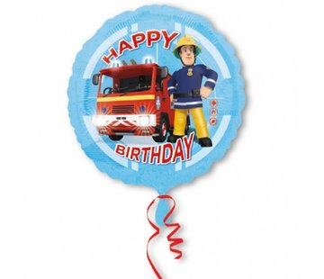 Amscan Heliumballon Sam de Brandweerman Happy Birthday