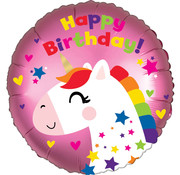 Qualatex Heliumballon Eenhoorn - Unicorn Happy Birthday