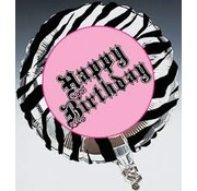 creative Party Heliumballon Zebra Passion Happy Birthday